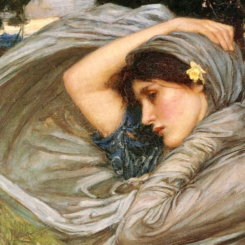 L'immagine rappresenta un'opera di John William Waterhouse