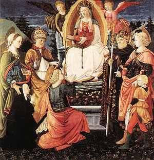 L'immagine raffigura la Madonna della Cintola di Lippi