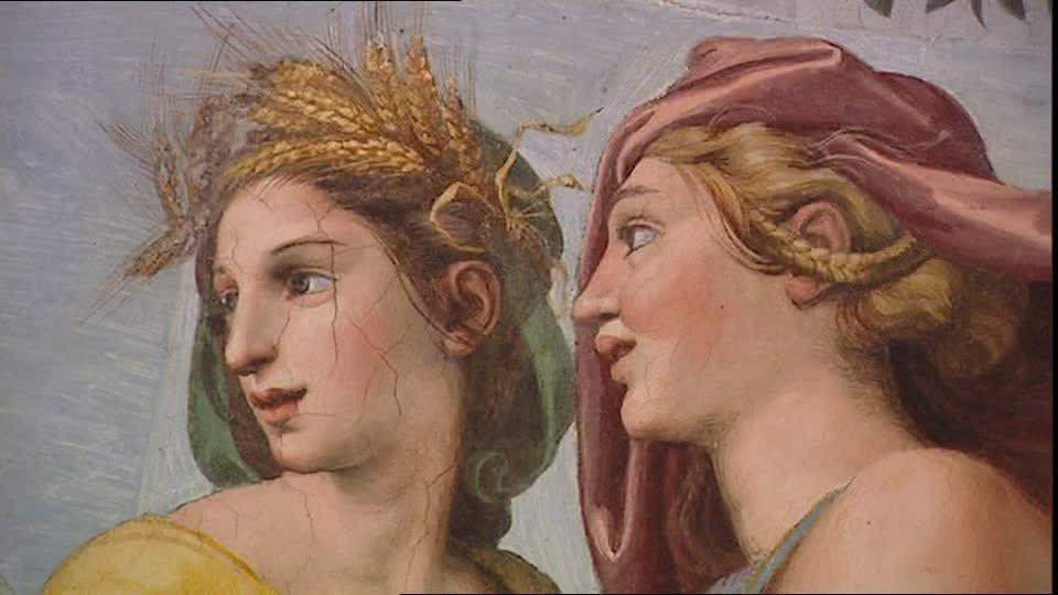 L'immagina raffigura un Dettaglio Loggia di Amore e Psiche - Villa Farnesina, Roma