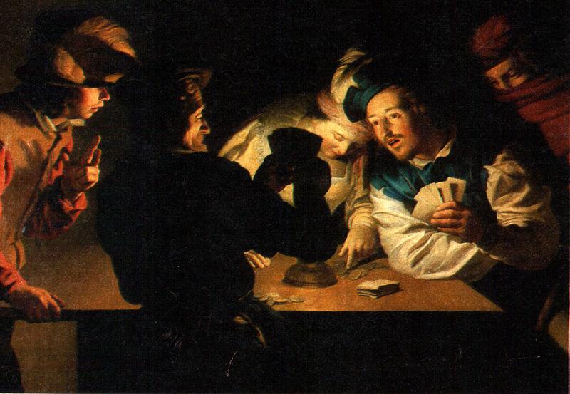 L'immagine raffigura I bari di Gherardo delle notti