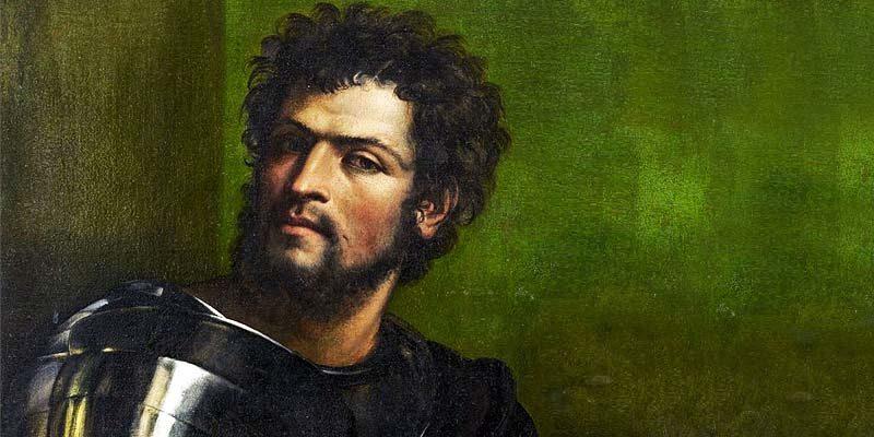 L'immagina raffigura il ritratto di Agostino Chigi