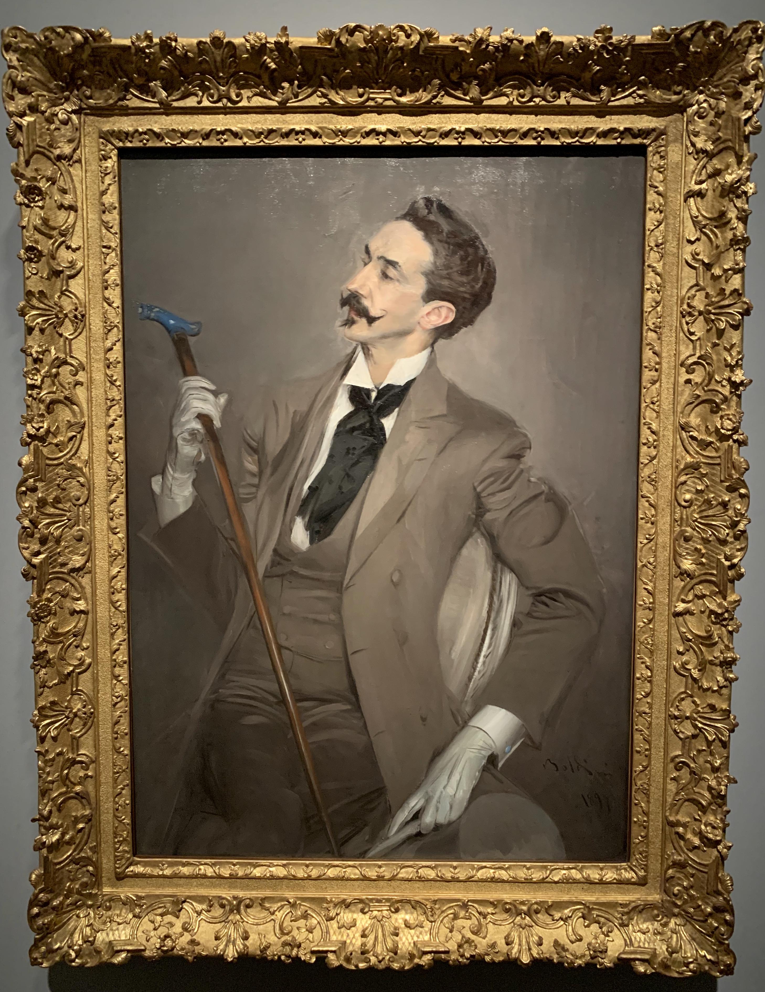 """Boldini ritrattL'immagine raffigura il ritratto del """"Il conte Robert de Montesquiou Fézensac"""""""