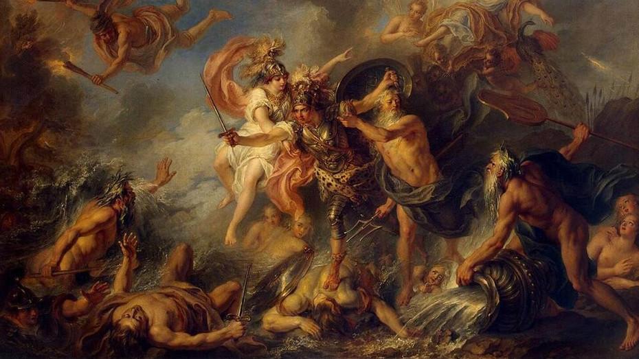 L'immagina raffigura il dipinto L'ira funesta di Achille di Charles Antoine Coypel