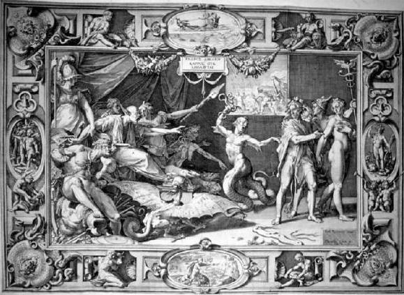 L'immagine rappresenta la Calunnia del pittore Apelle