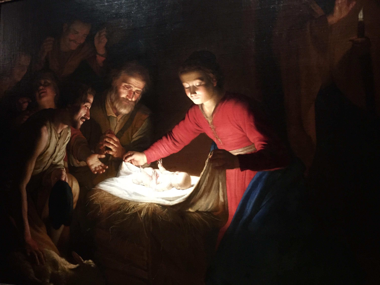 L'immagina raffigura il dipinto Adorazione dei Pastori di Gherardo delle notti, distrutta nella strage dei Georgofili del 1993