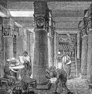 Incisione Biblioteca di Alessandria
