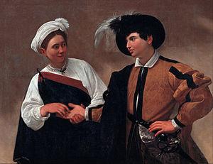 L'immagine raffigura la Buona Ventura di Caravaggio