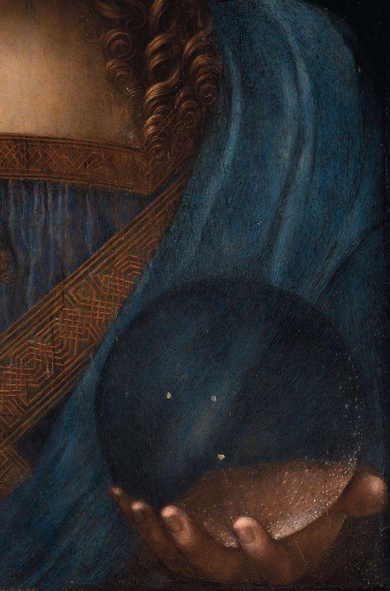 L'immagine rappresenta la sfera tenuta in mano dal Salvator Mundi