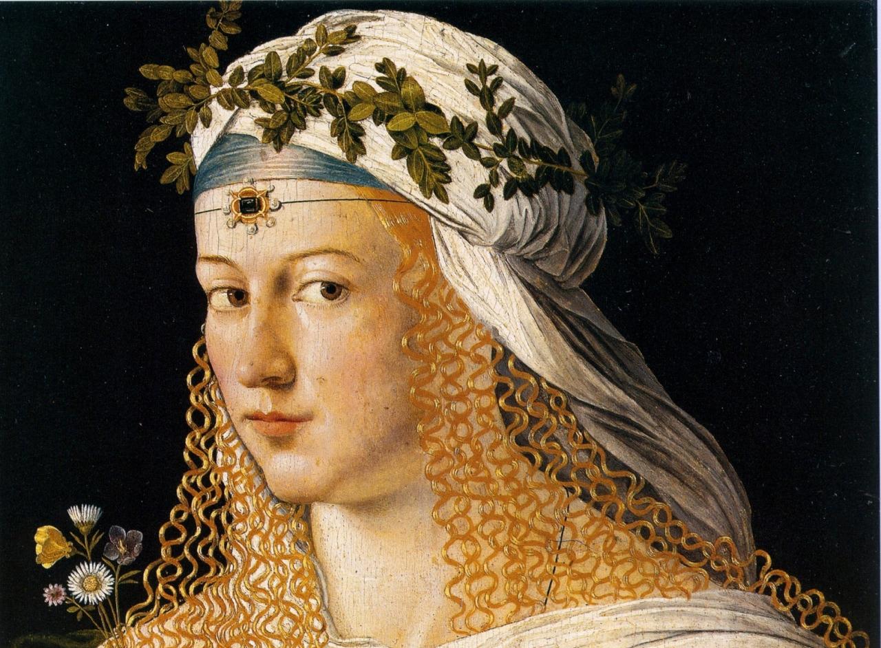 L'immagine rappresenta il ritratto di Lucrezia Borgia