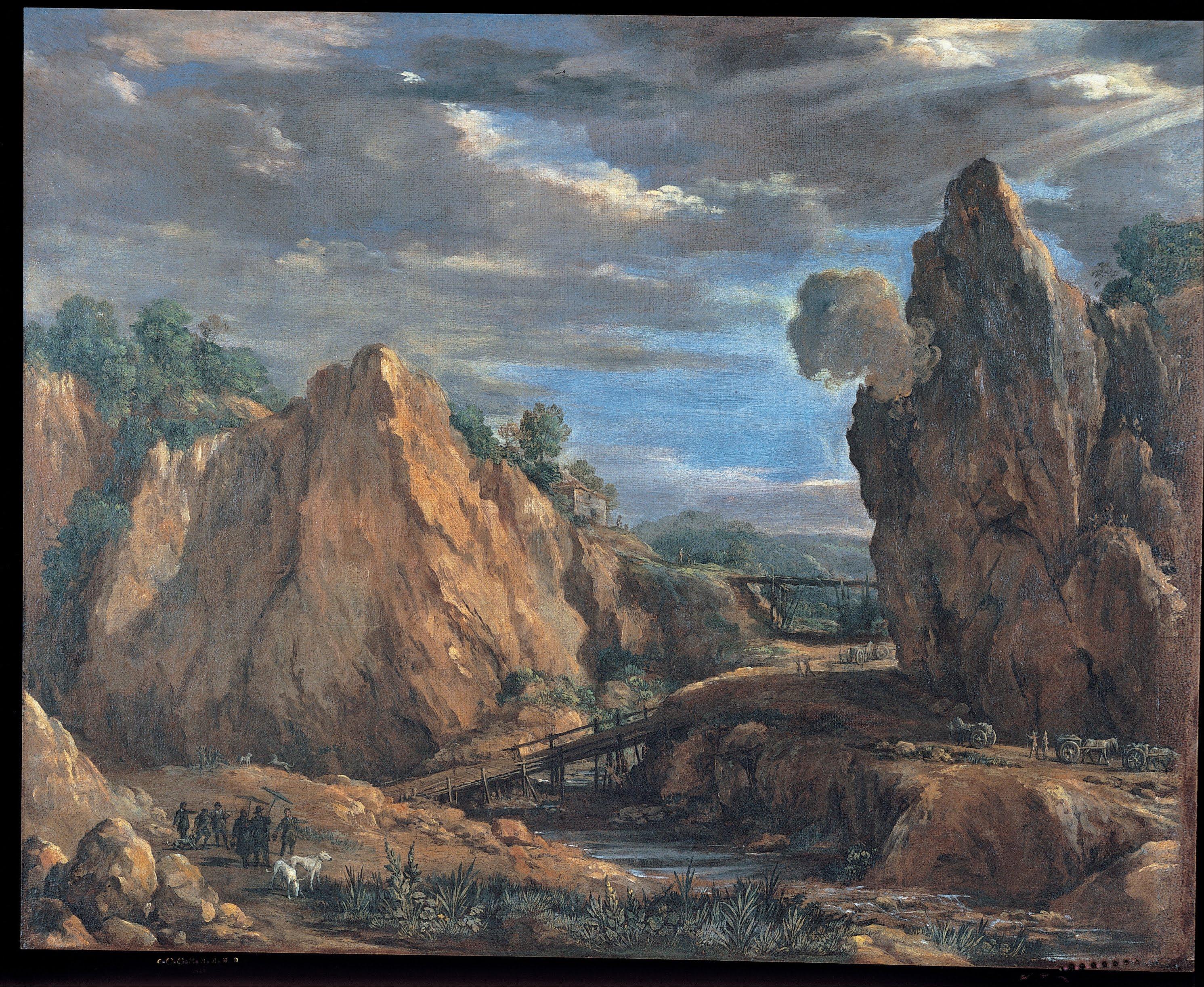 L'immagine rappresenta leMiniere di allume di Tolfa, Pietro da Cortona