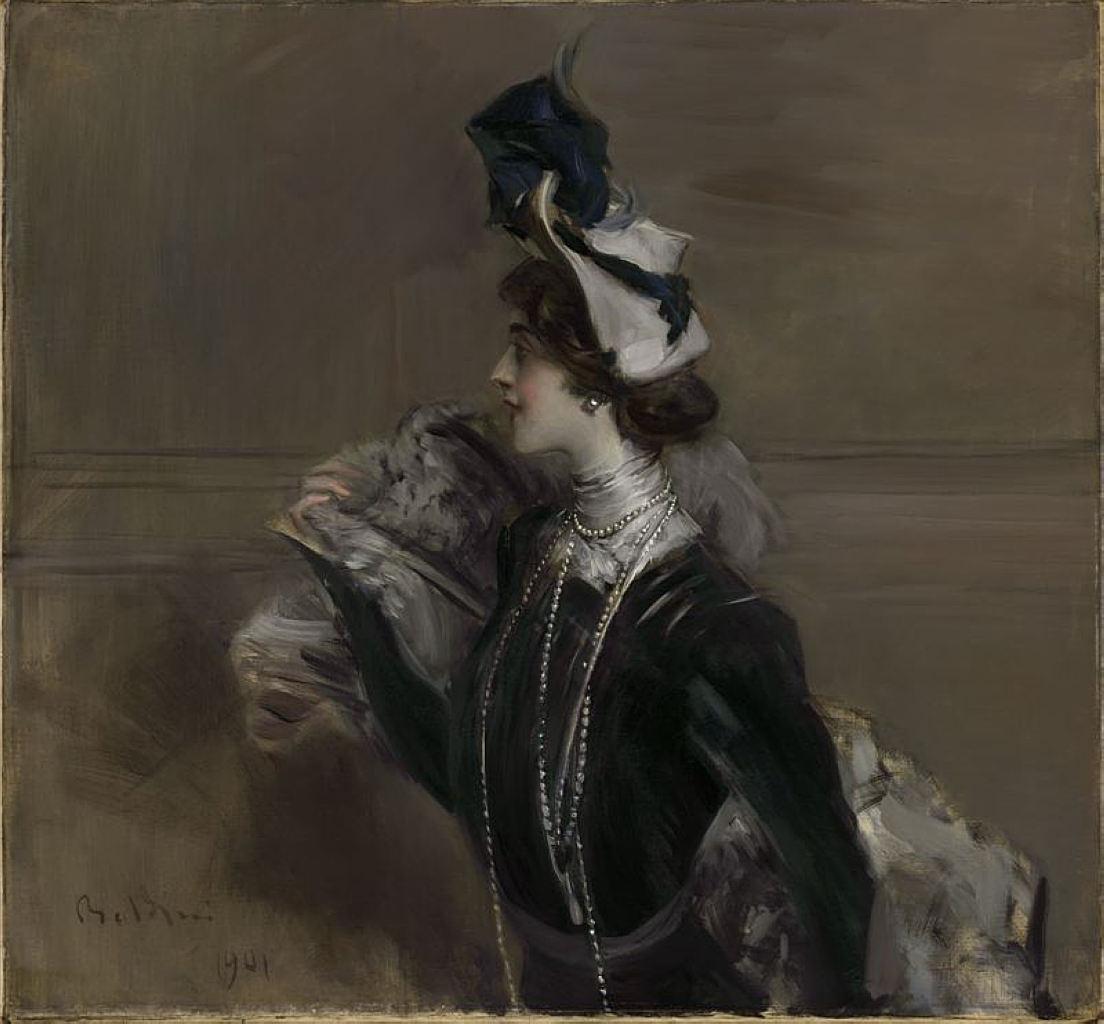 Boldini ritratto di Lina Cavalieri