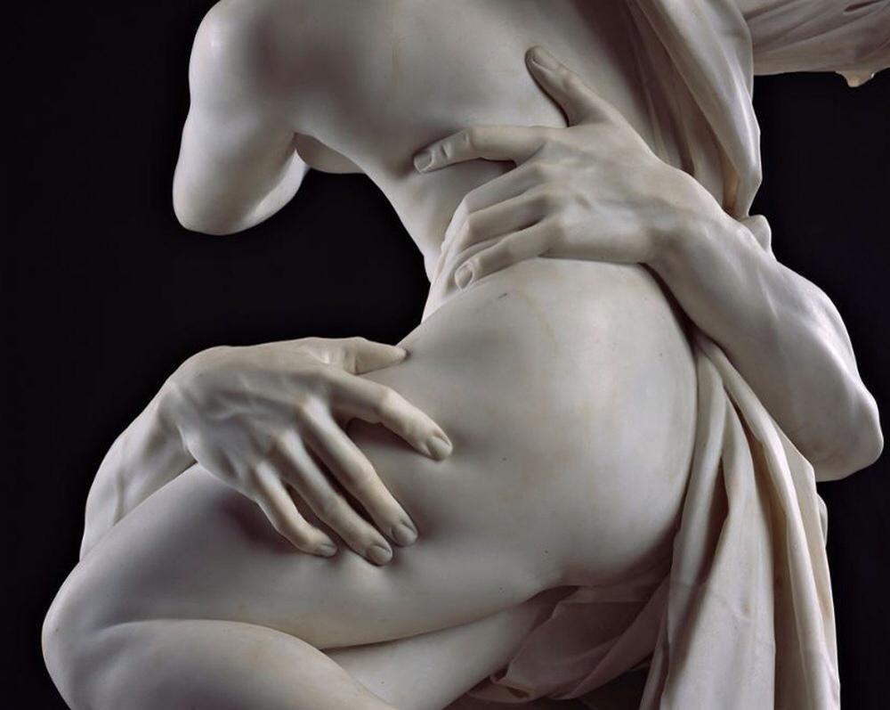"""L'immagine raffigura unParticolare de """"Il ratto di Proserpina"""", Gian Lorenzo Bernini, Galleria Borghese, Roma"""