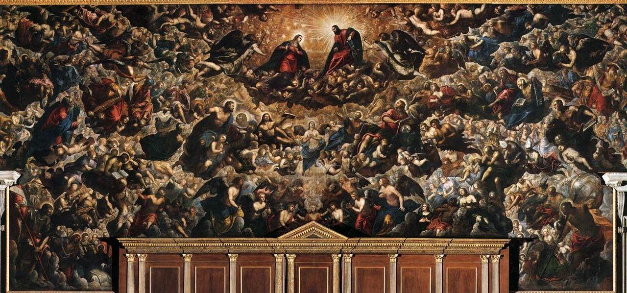 L'immagine raffigura il Paradiso di Tintoretto