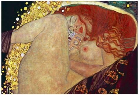 L'immagine rappresenta Danae di G. Klimt