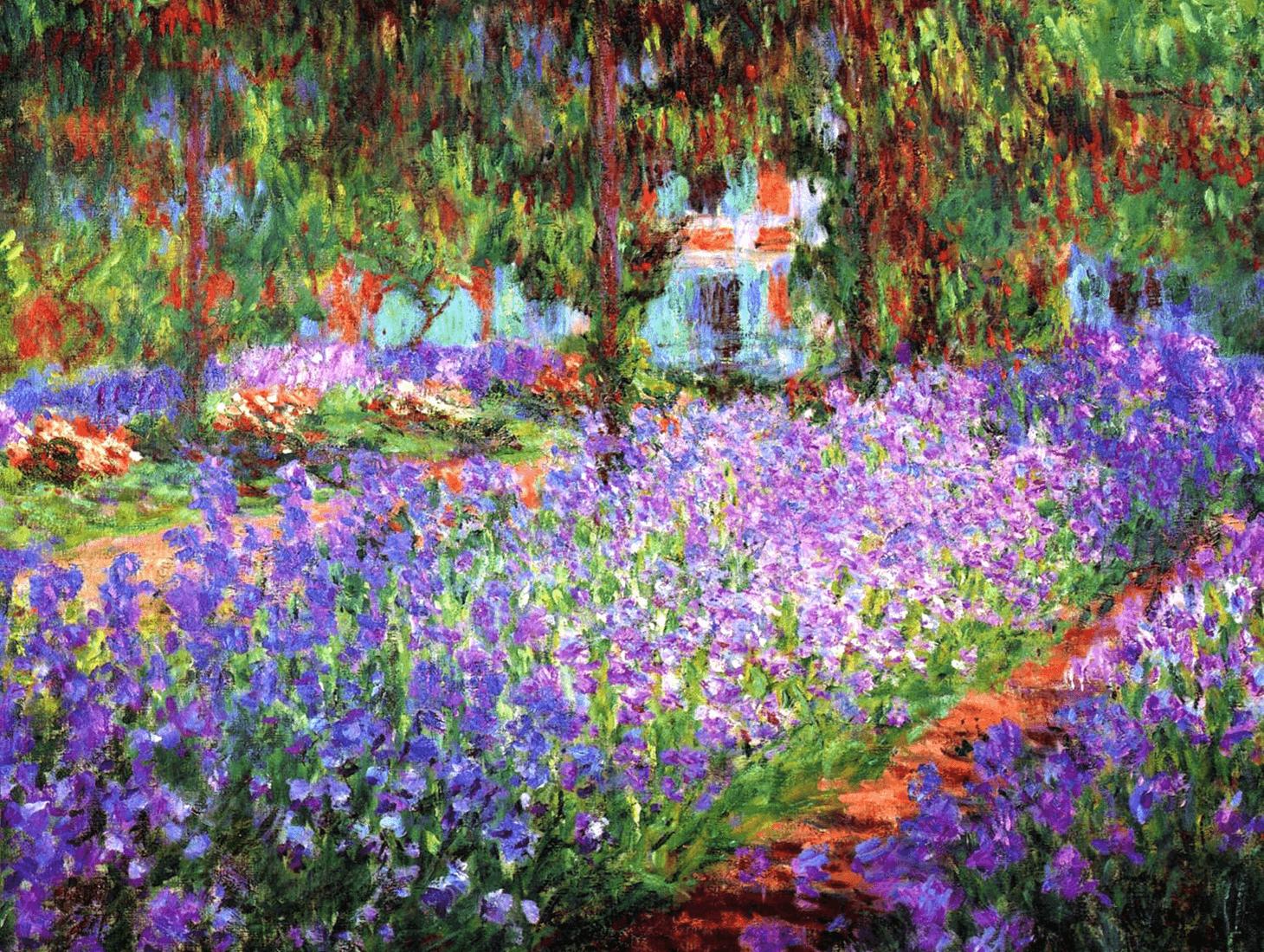 Il Diritto Perfetto: Iris nel giardino di Monet
